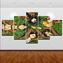 XIAOAGIAO 5 Canvas Painting Modular picture on canvas print type painting a set of 5 pieces Game watch dogs 2 Paper poster wall art home decoration Painting on Canvas