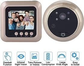 Digital Door Viewer, VBESTLIFE 2.4 Inch TFT Screen Smart Video Doorbell Intercom with 1080P HD Eye Peephole Camera Support 160 Degree Wide Angle, TF Card, IR Night Vision