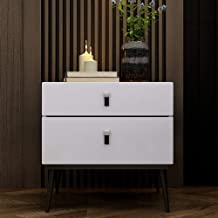 Bedside Table Bedside Table, Modern Minimalist Double Drawer Paint Complete Bedroom Bedside Cabinet Small Space Storage Si...