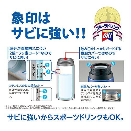 『象印 ( ZOJIRUSHI ) 水筒 ステンレスボトル 2WAY コップ&ダイレクト 820ml SP-HB08-BR』の4枚目の画像