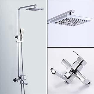 Caribou 3-Setting Bathroom Shower Systems Soild Brass Luxury Rain Mixer Shower Combo Set with Slide Bar?Chrome