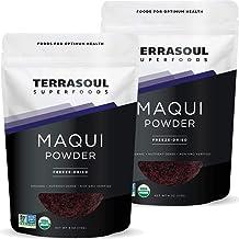 Terrasoul Superfoods Organic Maqui Berry Powder, 8 Oz (2 Pack) - Freeze-Dried   Antioxidants