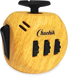 CHUCHIK Fidget Cube Toys. Prime Desk Toy, Reduce Anxiety and Stress Relief for Autism, Add, ADHD & OCD (Wooden)