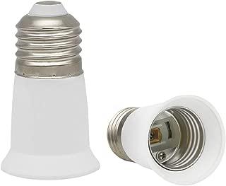CliCli E26 Standard Medium Base Light Bulb Socket Extender (Extension: 3 CM/1.18 Inch), E26 to E26 Socket Extension Adapter, Max 60W and 160℃ Heat-resistant Medium E26 Screw Base Adapter (2-Pack)