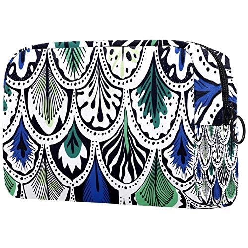 Bolsa grande de viaje para mujer – Neceser de viaje y cosmética bolsa de maquillaje con muchos bolsillos, cita verde Happy Holiday