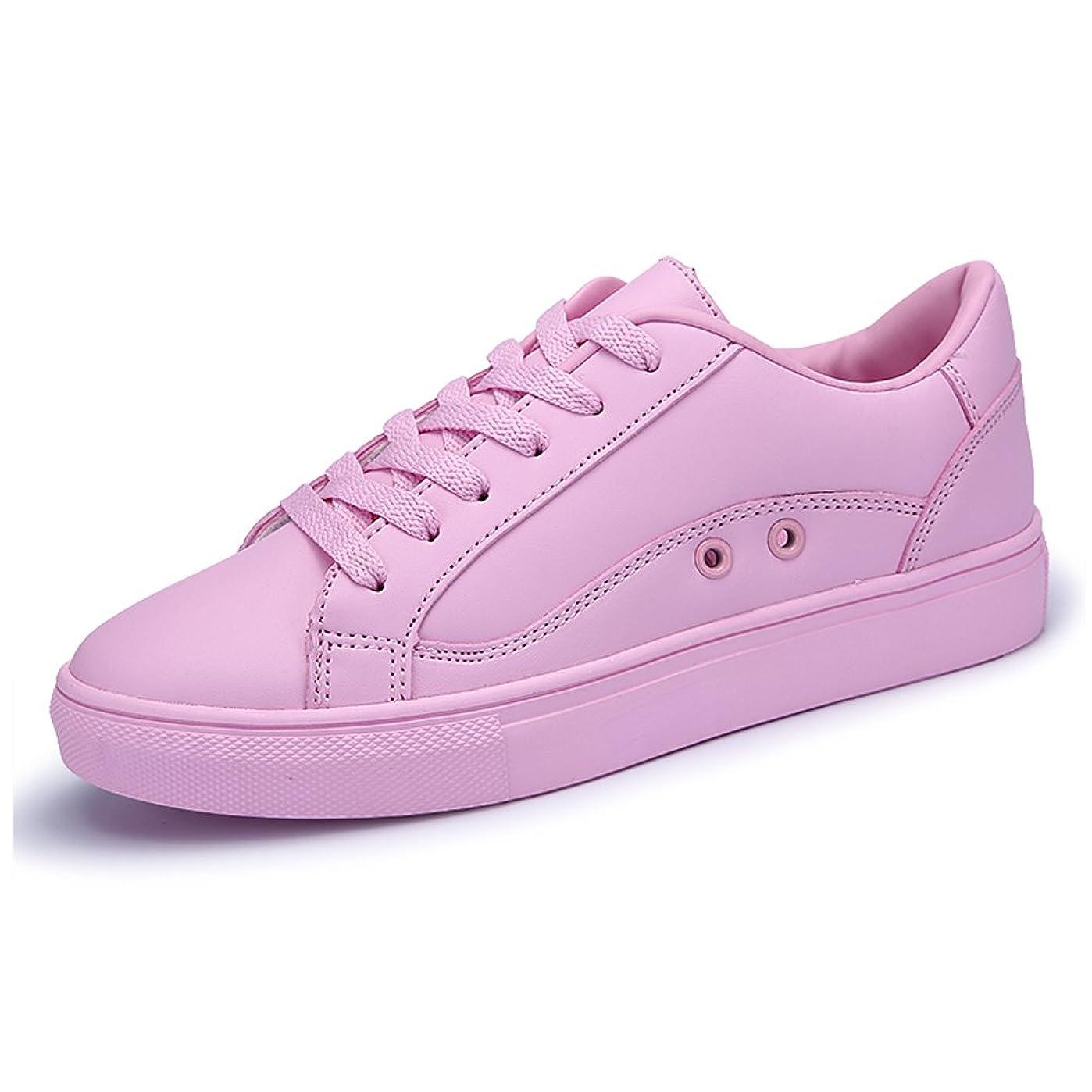 森チーター遠征[ノーブランド品] レディーズ ボードシューズ Ladies Board Shoes カジュアル ソリッドカラー レースアップ 平底 SZXY-829 ピンク 23.5cm [並行輸入品]