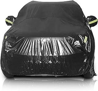 Sailnovo Funda para Coche Exterior Negra Impermeable Resistente al Sol, Polvo, Viento, Lluvia, Nieve y Rasguño 210T para SUV (4.8 x 1.9 x 1.85m)