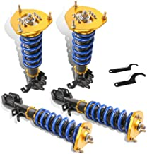 MOSTPLUS Coilovers Struts for 1988-1999 Toyota Corolla E90 E100 E110 AE111 Adjustable Height Suspensions Shock Struts Kits (Set of 4)