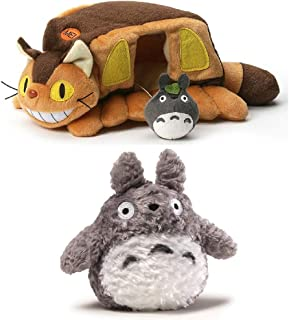 "GUND Totoro 6"" Plush Bundle with 10"" Cat Bus House"