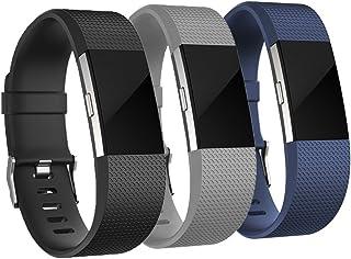 AdePoy Fitbit Charge 2 Correa, Soft TPU Adjustable Fitness Banda de Reemplazo Fitness Correa para Fitbit Charge 2