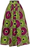 Women African Traditional Costume Ankara Print Skirt Dashiki Long Skirts (XX-Large, B)