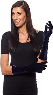 Pin Up Girl Elbow Length Stretch Velvet Gloves