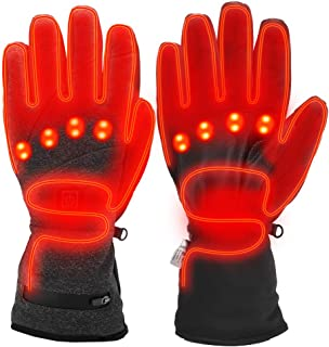Sunbond Heated Gloves,Electric Rechargeable Battery Heated Gloves for Men Women 3.7V 3600mAh,Thermal Insulate Gloves for Skiing Skating Hiking Hunting Camping