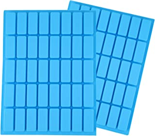 Lawei 2 pack 40 Cavity Rectangle Silicone Candy Molds - Ice Cube Tray Molds for Chocolate Truffles, Ganache, Jelly, Candy