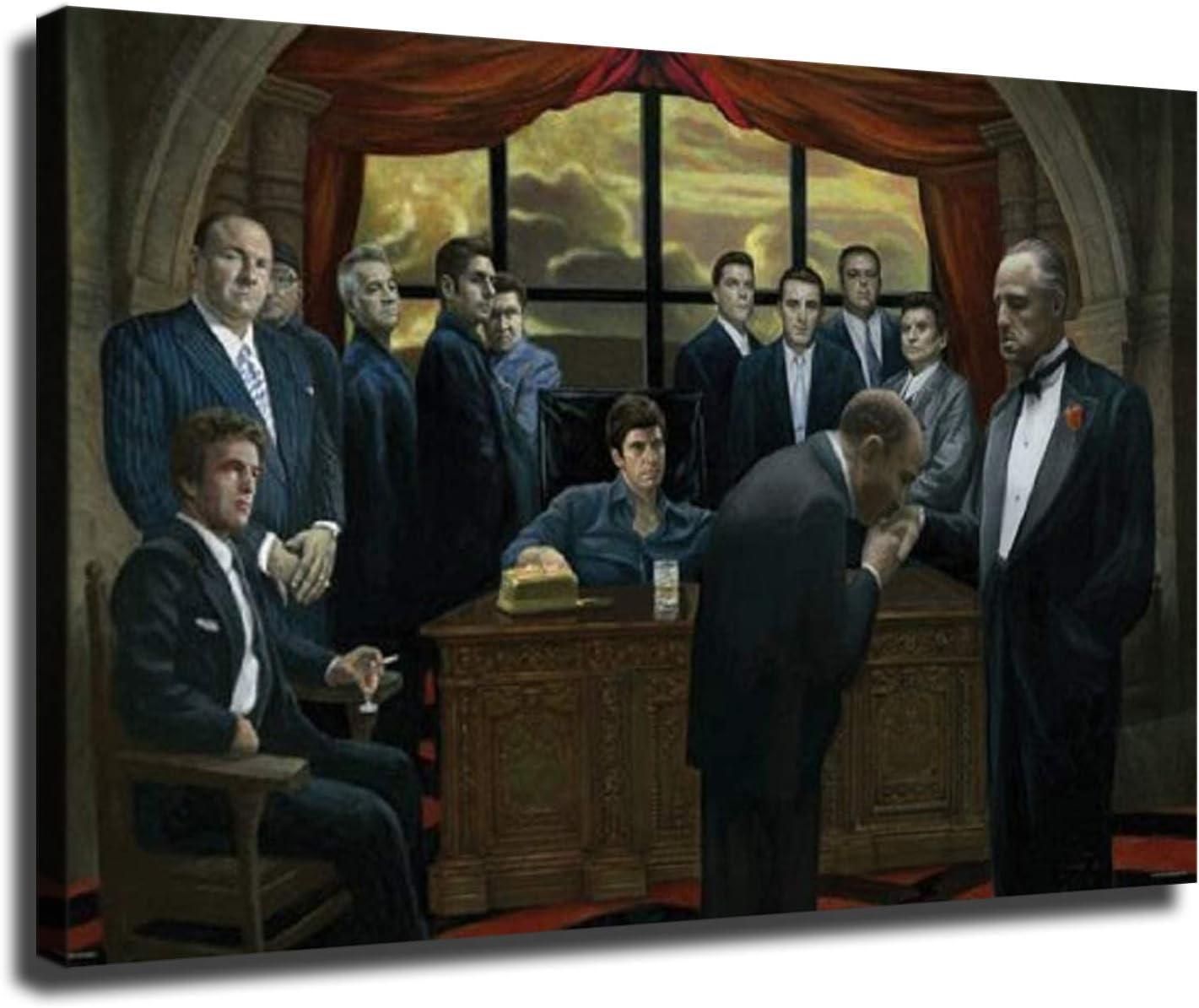 Max 49% OFF Mafia Scarface Our shop most popular Godfather Casino Gangster Art Print Decorati Wall