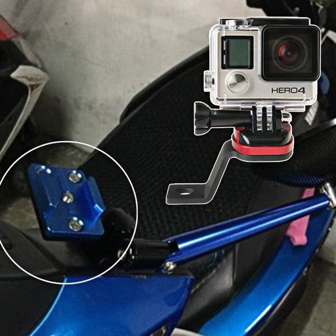 SJCAM Camera HUIFANGBU Motorcycle Rearview Mirror CNC Aluminum Alloy Stent Fixed Bracket Holder for GoPro New Hero //HERO6 // 5//5 Session //4//3+ //3//2 //1 Black Blue etc Xiaomi Xiaoyi Gold