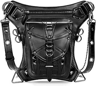 Waterproof Waist Bag Tactical Drop Leg Bag Outdoor Bike Cycling Hiking Fanny Pack Hip/Thigh Bag Pouch Shoulder Crossbody Bag Black