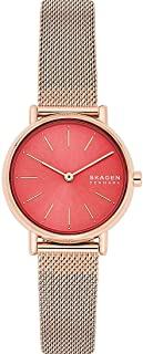 Skagen Signatur Women's Pink Dial Stainless Steel Analog Watch - SKW2868