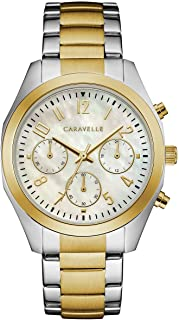 Caravelle Designed by Bulova Women's Quartz Watch with Stainless-Steel Strap, Two Tone, 18 (Model: 45L169)