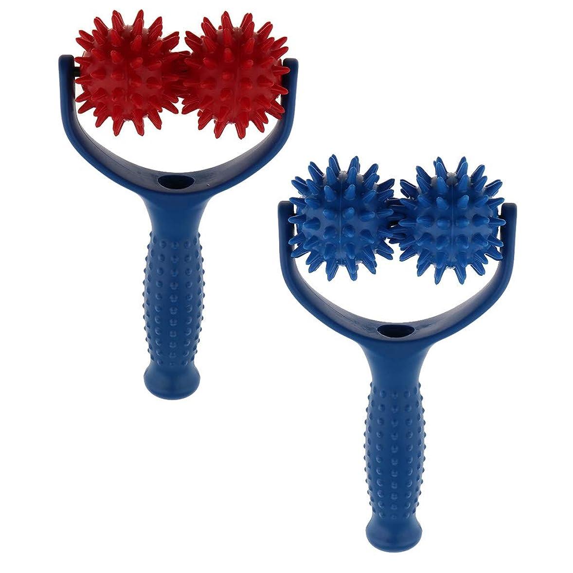 鋸歯状ギャップゴミ箱D DOLITY マッサージボール ローラー ハンドヘルド 筋膜 トリガーポイント 疲れ解消 健康器具 2個入