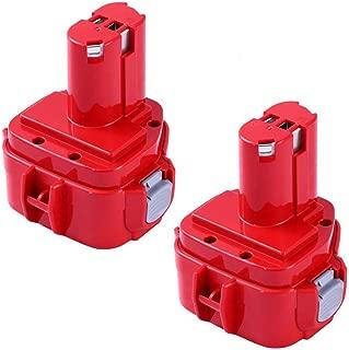 2 Packs 12 Volt 3000mAh Replacement for Makita 12V Battery Ni-Mh 1200 1220 1201 PA12 1222 1233S 1233SA 1233SB 1235 192681-5 Cordless Tools