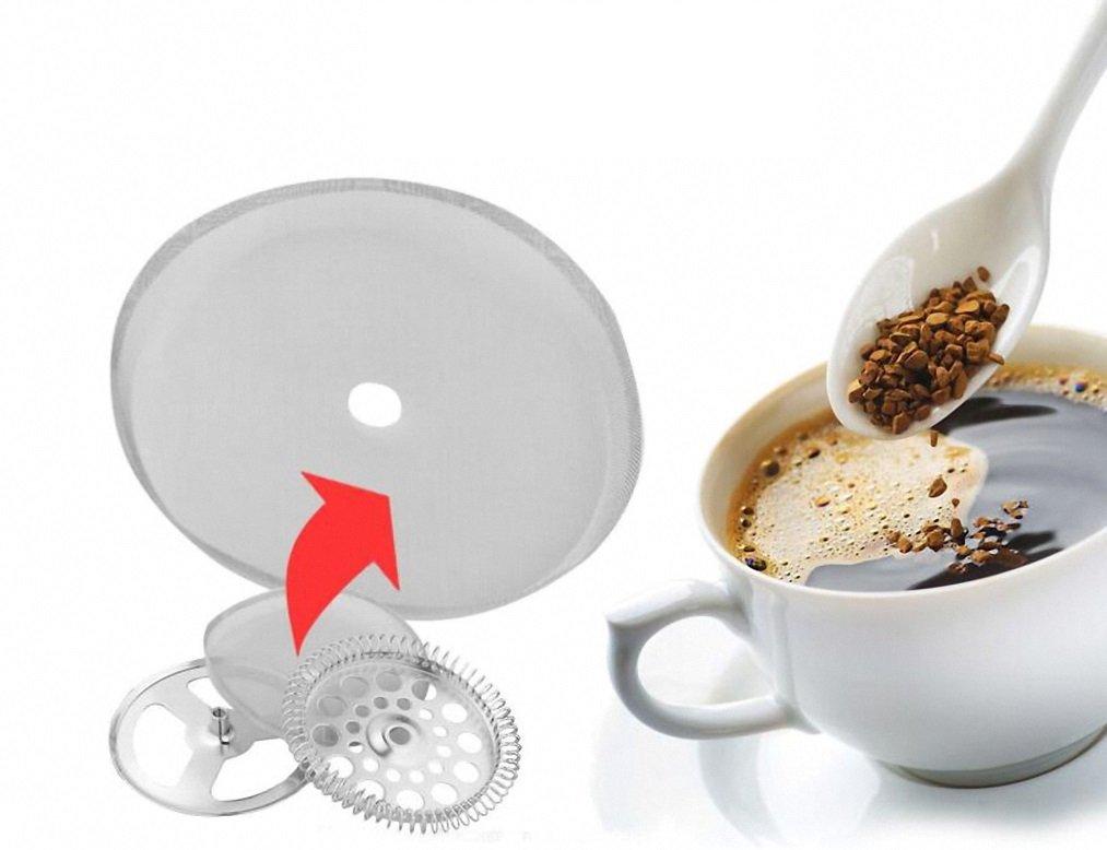 Filtro para cafetera francesa Bournetecch, tamaño universal de 6 tazas Filtro reutilizable de acero inoxidable, 15,24 cm, 800 ml.: Amazon.es: Hogar