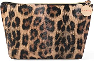 Makeup Bag,Cosmetic Lipstick Cute Pouch Toiletry Travel bag and Brush Organizer Purse Handbag For Women, Leopard