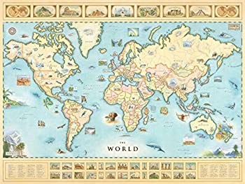 World Map Poster - Map of the World Lithographic Print