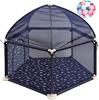 Baby Park Fence Kids Fence Tents Activity Center Infant Play Play Yard Play Breathable Mesh Easy to clean assembled, with 200 balls, 138cmx66cm