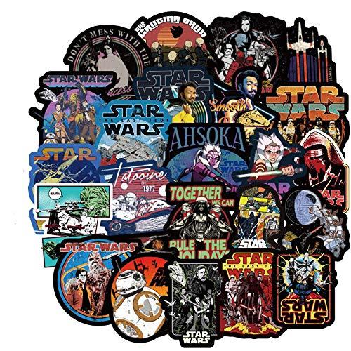 UIXIYIMG 100PCS DIY Cartoon Star Wars Jedi Darth Vader Aufkleber Raumdekoration Laptop Gepäck Wandaufkleber Wohnzimmer Wanddekoration