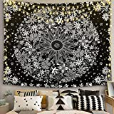 Psicodélico Tarot Astrología Sol Luna Mandala Tapiz Colgante de pared Arte Fondo de pared Manta colgante de tela A11 130x150cm