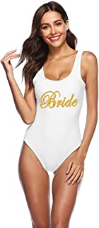Women's Swimsuit Bride Tribe Bathing Suits Honeymoon Swimwear Bride Wedding Party Bridesmaid Gift