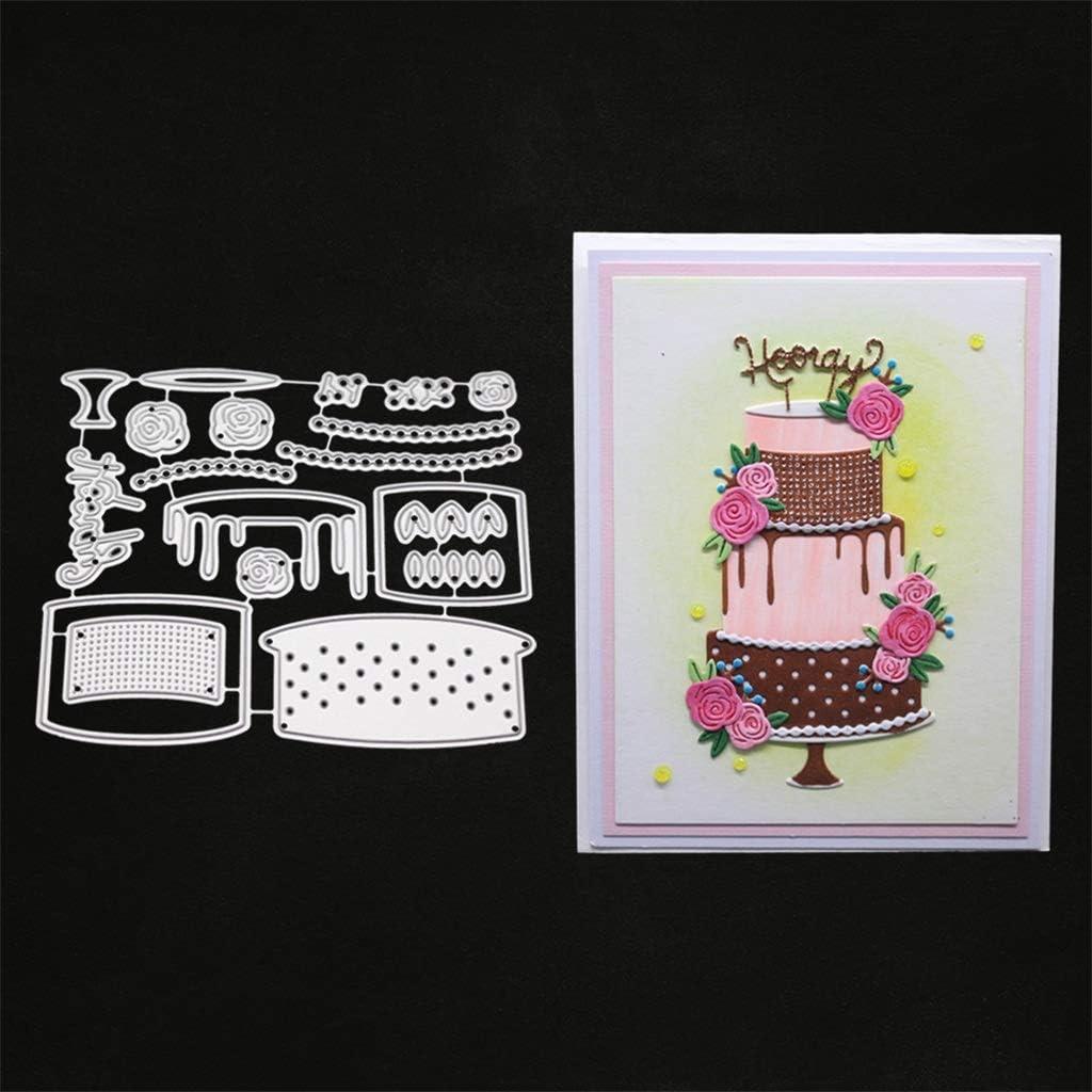 die cut birthday card birthday cake