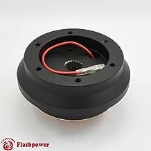 Flashpower Steering Wheel Short Hub Adapter Billet Black For Acura Integra Honda Civic