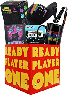 Ready Player One Themed LookSee Box Bundle | Retro Video Game, Book, Movie Collectibles | Includes 7 Quality Nerdy Items | Geek Gifts Perfect for Gamers, SciFi Fans, Teenagers, Collectors
