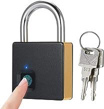 Blusea Smart Fingerprint Lock USB-oplaadbare 10 sets vingerafdrukken, IP65 waterdicht, diefstalbeveiliging, hangslot, deur...