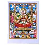 Bild Lakshmi 50 x 70 cm Gottheit Hinduismus Kunstdruck