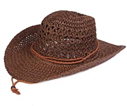 XHCP Men Straw Hat Summer Sun Hat Long-Staple Cotton Foldable Wide Brim Sport Holiday Safari Beach Hat with Adjustable Drawstring 50+ UV Protection Unisex Quality Natural