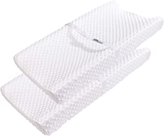 Changing Table Pad Covers AceMommy Ultra Soft Minky Dots Plush Changing Table Covers Breathable Changing Table Sheets Wipe...