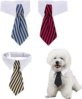 4 Piezas Corbatas y Pajarita Ajustables de Mascotas Perros Gatos Collar de Disfraz de Mascota para Perros Pequeños Accesorios para Preparación de Cachorro (S)