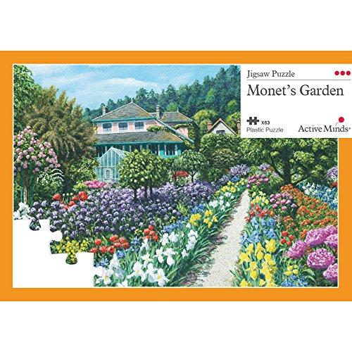 Active Minds 63 Teile Puzzle 'Monets Garten' | für Senioren mit Demenz & Alzheimer | Beschäftigung & Aktivierung