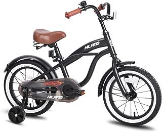 JOYSTAR Kids Bike with Training Wheels for Girls & Boys, 12 14 16 Inch (Red Orange Blue Silver)