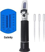 KETOTEK Salinity Refractometer, ATC Salt Meter Optical Salinometer with 0-100‰(0-10%) and 1.000-1.070SG Measurement Range for Aquarium, Seawater, Brine and Industry. High Accuracy ±1‰ Salinity Tester