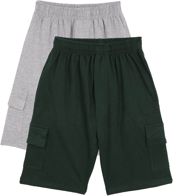 chopper club Boys Shorts in Cotton Fleece with Cargo Pockets