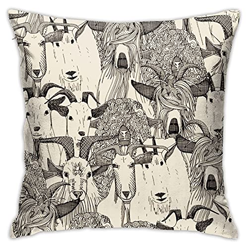 Just Goats - Fundas de almohada para sofá, cama, coche, 45,7 x 45,7 cm