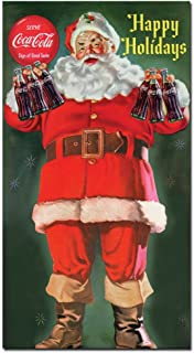 Santa Holding 6 pack of Coca-Cola 13x24-Inch Canvas Wall Art
