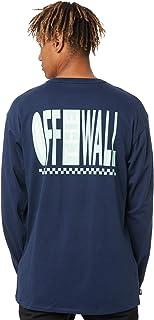 Vans Off The Wall Classic Graphic Ls T-Shirts & Polo Shirts Men Blue - L - Long Sleeved Shirts Shirt