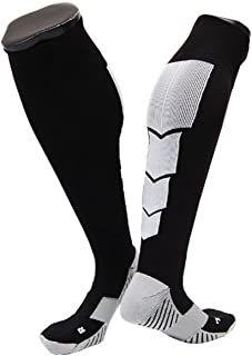 Black w// Orange Strip Lian LifeStyle Big Girls 1 Pair Knee High Athletic Sports Socks Size L//XL XL0026-09