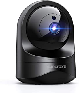 1080P Camara Vigilancia WiFi Interior, SUPEREYE Cámara IP WiFi con Visión Nocturna, Detección de Movimiento, 10s vídeo App...
