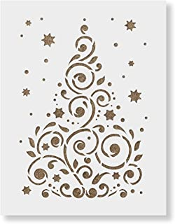 Christmas Tree Stencil - Laser Cut Reusable Template - Perfect for Christmas Stencil Crafts